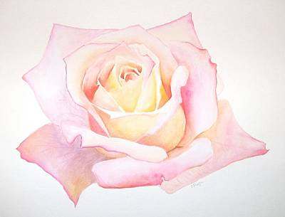 Peace Rose Painting - Rose by Emily Page