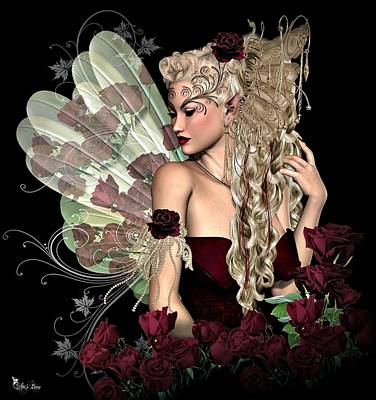 Digital Art - Rose Fairy by Ali Oppy