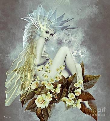 Rose Fairy Art Print by Ali Oppy