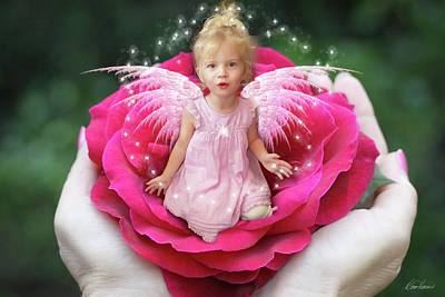 Photograph - Rose Fairy by Diana Haronis