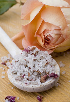 Still Life Photograph - Rose-flavored Sea Salt by Frank Tschakert