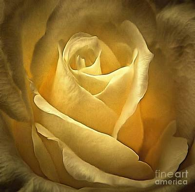 Rose - For All Time Art Print by Janine Riley