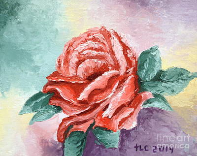 Mother Theresa Painting - Rose For Mom by Theresa Cangelosi