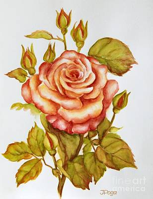 Painting - Rose For My Mom by Inese Poga