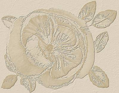 Mix Medium Digital Art - Rose Fossil by Delynn Addams