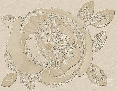 Rose Fossil Art Print by Delynn Addams