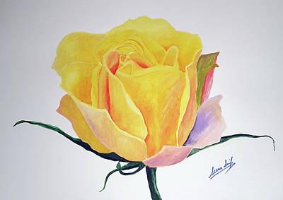 Painting - Rose Four by Seenu Singh