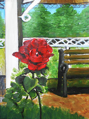 Mixed Media - Rose Garden by Angela Stout