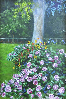 Painting - Rose Garden by Anne Marie Brown