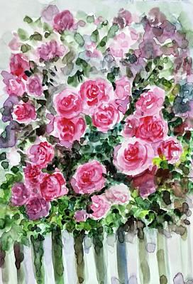 Painting - Rose Garden by Asha Sudhaker Shenoy