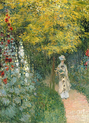 Parked Painting - Rose Garden by Claude Monet