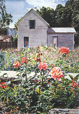 Selecting Painting - Rose Garden by David Lloyd Glover