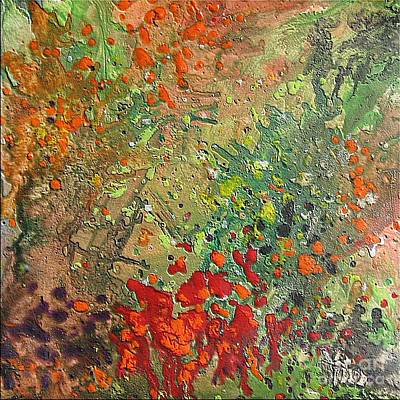 Spring Painting - Rose Garden by Dragica  Micki Fortuna