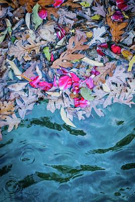 Rose Garden Fountain II Art Print