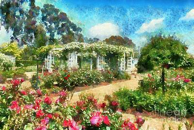 Digital Art - Rose Garden by Fran Woods