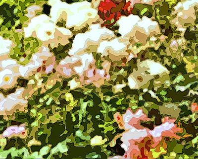 Impressionism Digital Art - Rose Garden Mirage Panel Two by Linda Mears