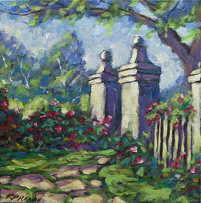 Canadiens Painting - Rose Garden by Richard T Pranke