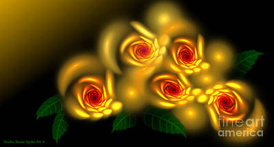 Digital Art - Rose Garden by Sandra Bauser Digital Art