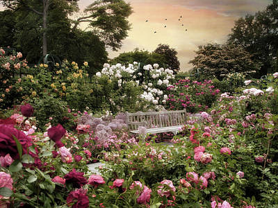 Rose Garden Splendor Art Print by Jessica Jenney