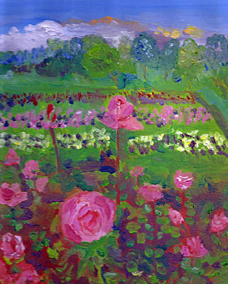 Painting - Rose Gardens In Minneapolis by Paul Thompson