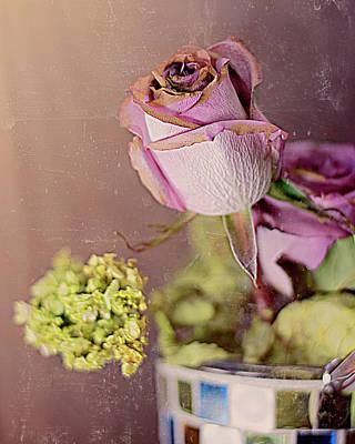 Photograph - Rose Grunge by Larry Bishop