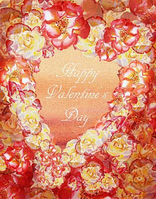 Red Letter Days Painting - Rose Heart Of Valentine by Irina Sztukowski