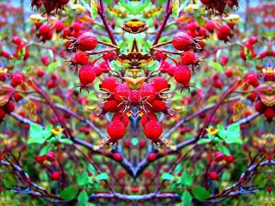 Digital Art - Rose Hippy Necklace by Max DeBeeson
