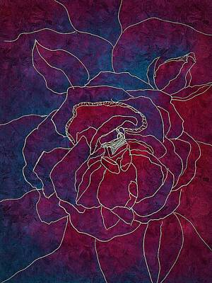 Digital Art - Rose Imagined by Anne Sands