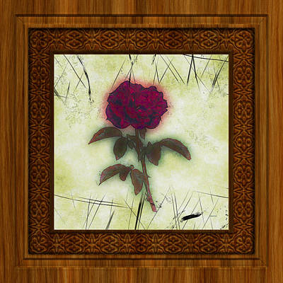 Photograph - Rose In A Wood Frame by John M Bailey