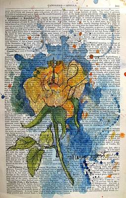 Splatter Paint Painting - Rose In Abstract by Maria Hunt