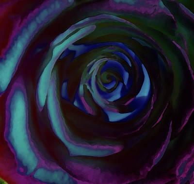 Digital Art - Rose In Blue by David Pantuso