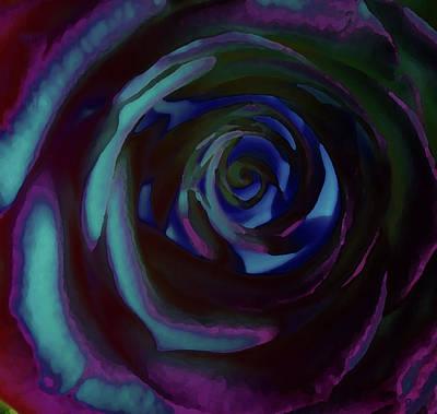 Digital Art - Rose In Blue by David Pantuso