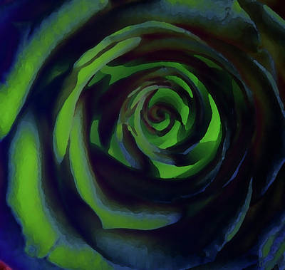 Digital Art - Rose In Green by David Pantuso