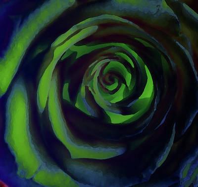 Digital Art - Rose In Green by David Pantuso