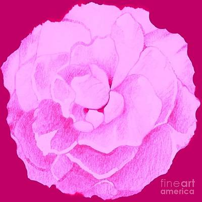 Digital Art - Rose In Hot Pink by Helena Tiainen
