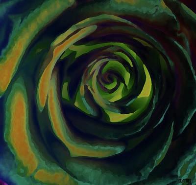 Digital Art - Rose In Orange by David Pantuso