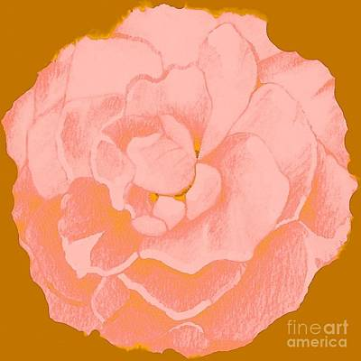 Digital Art - Rose In Soft Pink by Helena Tiainen