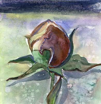 Rose In The Snow Art Print by Mindy Newman
