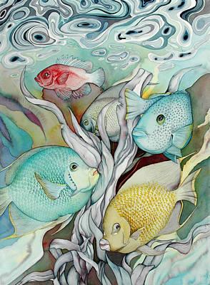 Bekman Wall Art - Painting - Rose Island Iv by Liduine Bekman