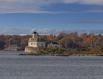 New England Lighthouse Mixed Media - Rose Island Lighthouse  by Capt Gerry Hare