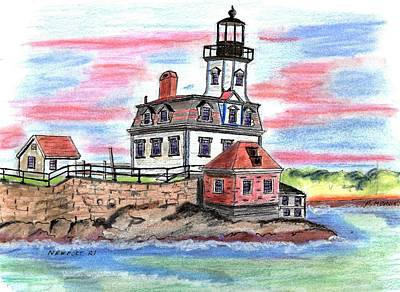 Rose Island Lighthouse Art Print