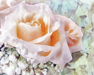 Digital Art - Rose Ivy by Francesa Miller