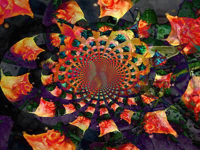 Rose Kaleidoscope Art Print by Cathie Tyler