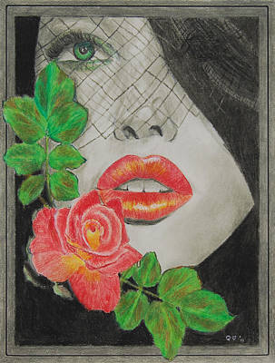 Drawing - Rose Kisses 2 by Quwatha Valentine