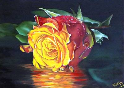 Painting - Rose Laura by Courtney Wilding
