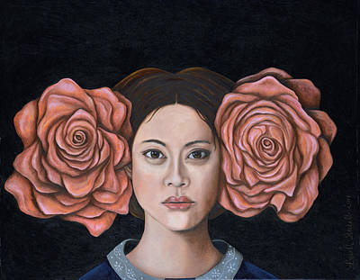 Asian Woman Painting - Rose by Leah Saulnier The Painting Maniac