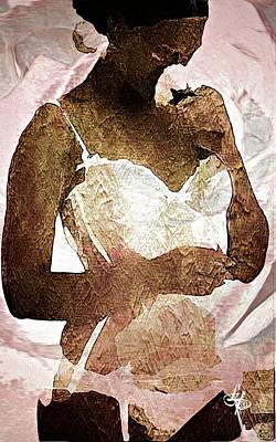 Sepia Chalk Digital Art - Rose Lingerie by Lynda Payton