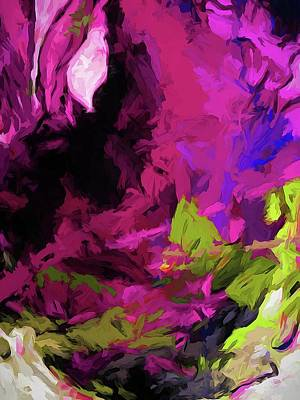 Digital Art - Rose Magenta by Jackie VanO