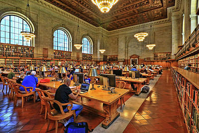 Photograph - Rose Main Reading Room - N Y Public Library # 2 by Allen Beatty