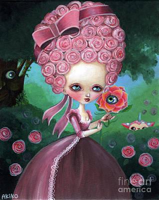 Painting - Rose Marie Antoinette by Akiko Okabe